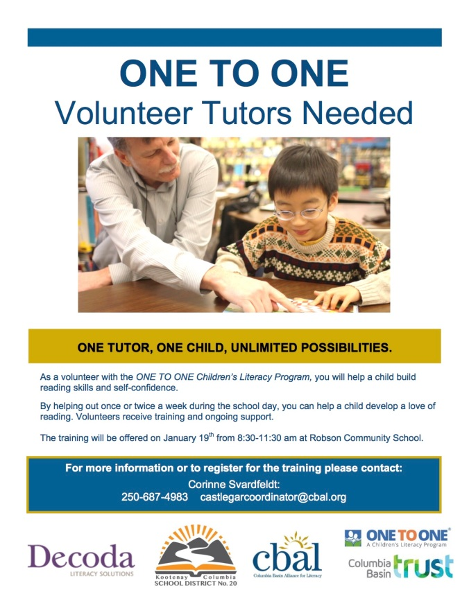One to One tutoring RCS